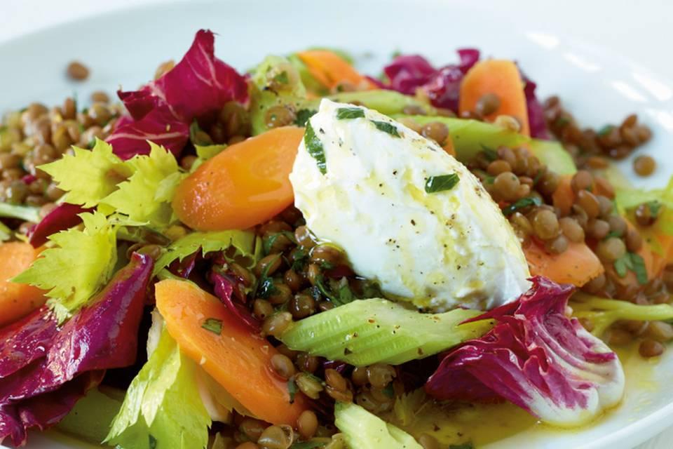Linsen-Gemüse-Salat Rezept