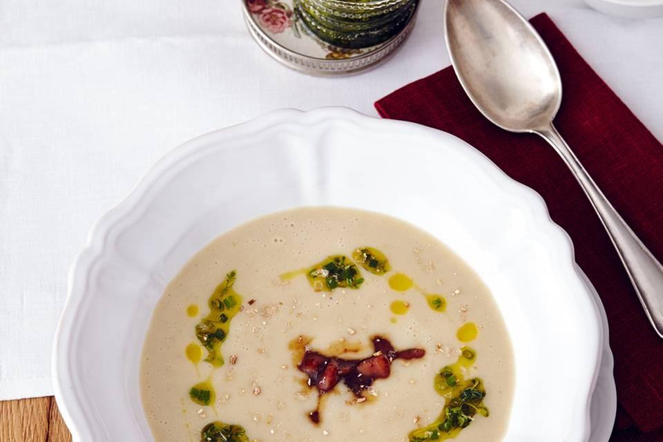 Cremige Maronen-Kartoffel-Suppe Rezept