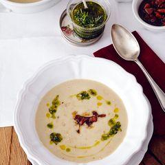Cremige Maronen-Kartoffel-Suppe