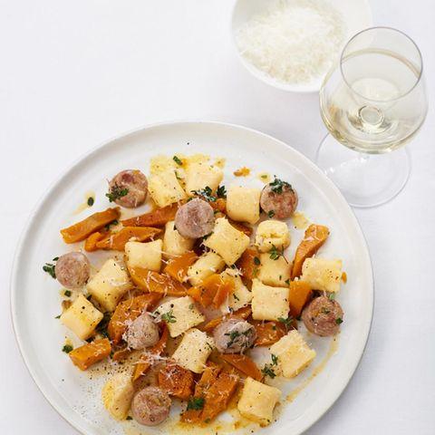 Gnocchi mit Kürbis und Salsiccia