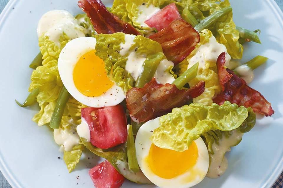 Caesar's Salad mit Bohnen Rezept