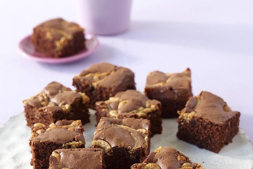 Schoko-Erdnuss-Kuchen  Rezept