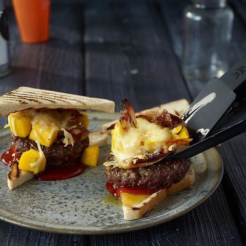 Hack-Burger mit Mango