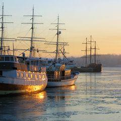 Abendstimmung im Hafen von Oslo