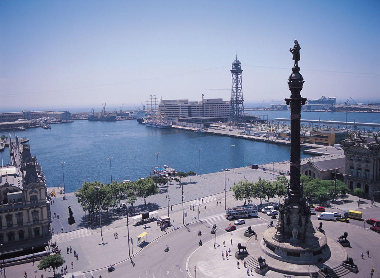 Kolumbus-Säule und Port Vell