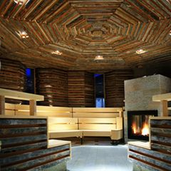 Sauna im Tschuggen Grand Hotel