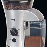Klein, stark, silber: Cilio Kaffeemühle