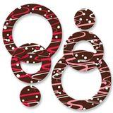 Eis-Dekor aus Schokolade