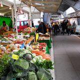 Beliebter Wochenmarkt in Hamburg