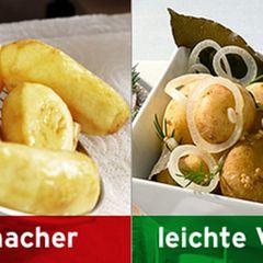 Statt frittierten Kartoffeln: Pellkartoffeln