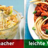 Statt Käse-Makkaroni: Makkaroni mit Tomatensauce