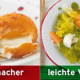 Statt gebackenem Mozzarella: Salat mit Mozzarella