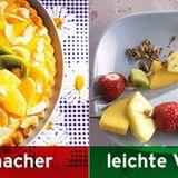 Statt Obstkuchen: frisches Obst