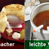 Statt Käsefondue: Fondue mit Brühe