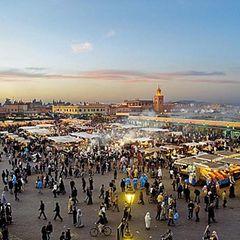 Djemaa El Fna in Marrakesch, Marokko