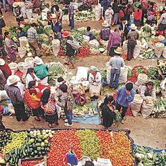 Marktszene in Guatemala