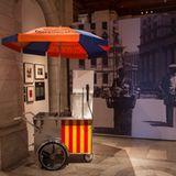 Hot Dog Wagen in der Ausstellung