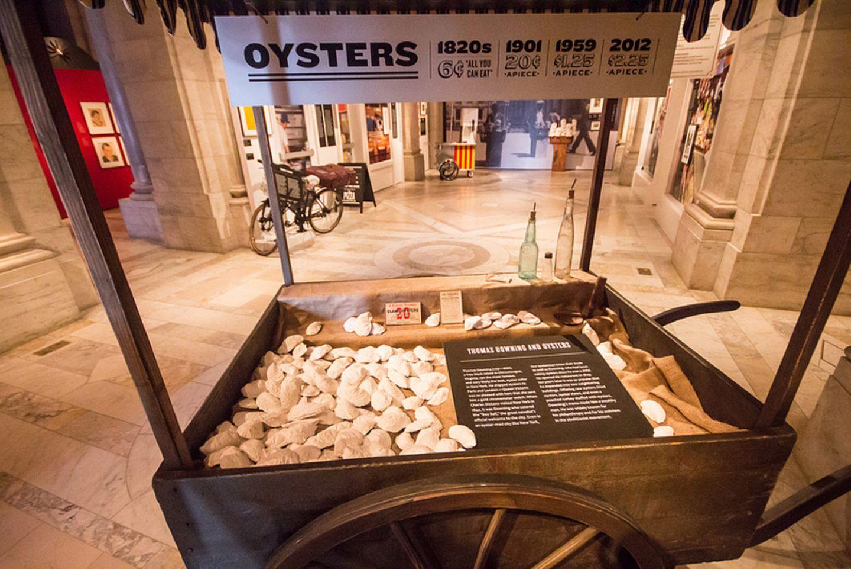 Nachgebauter Austern-Wagen