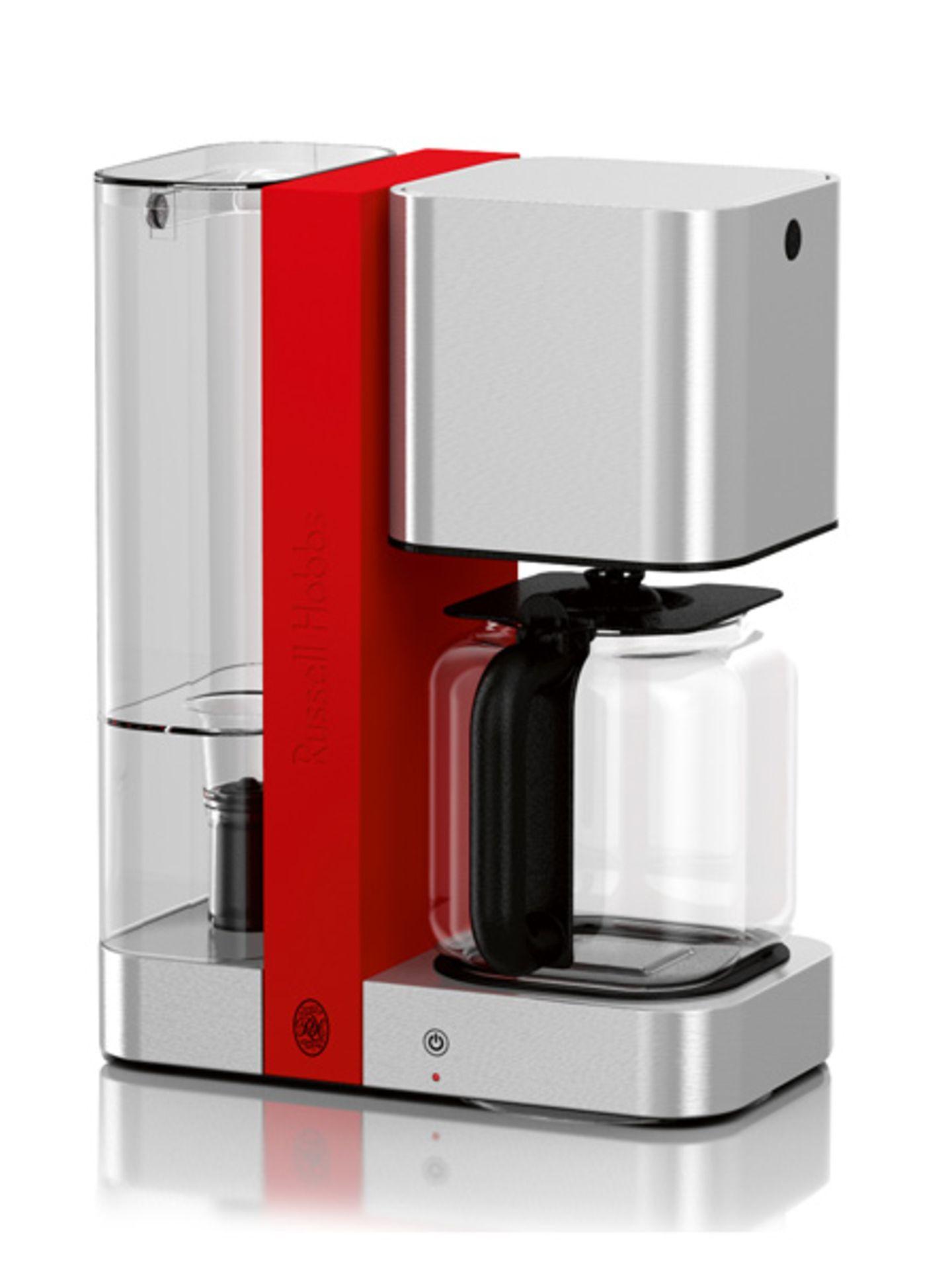 Steel-Touch: Glas-Kaffeemaschine
