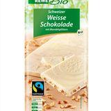 Schweizer Weiße Schokolade mit Mandelsplittern von REWE Bio