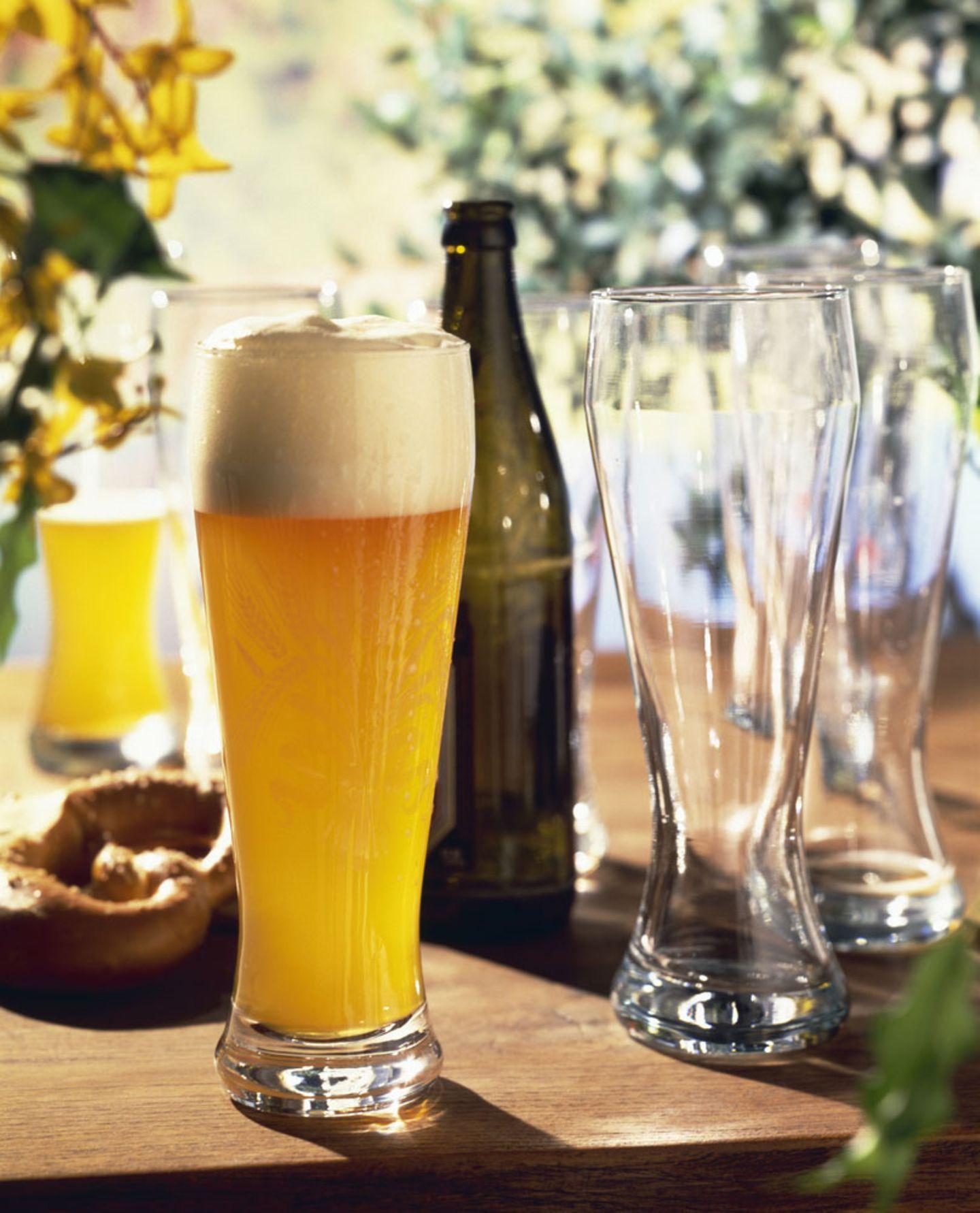 Auf Biergartenbesuch