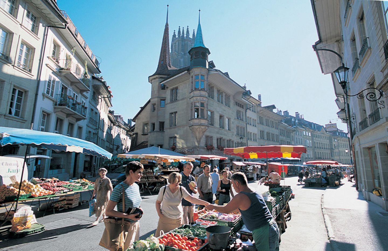 Wochenmarkt in Fribourg
