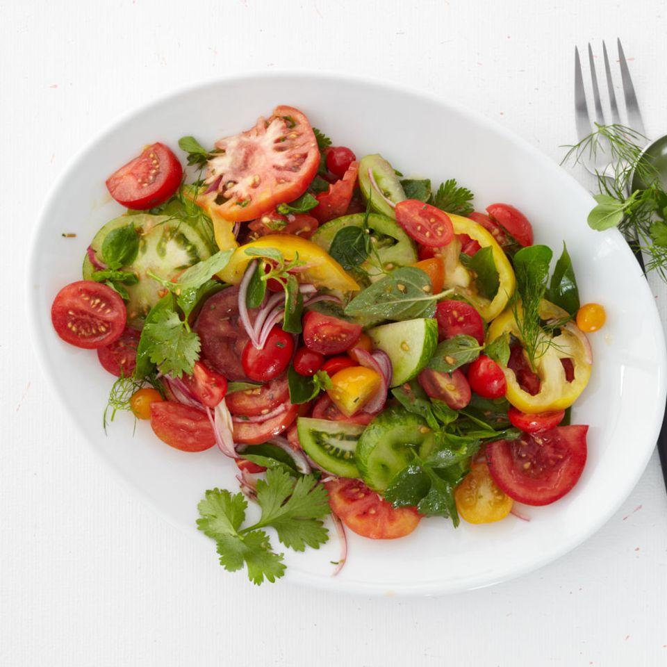 Kräuter in Salaten