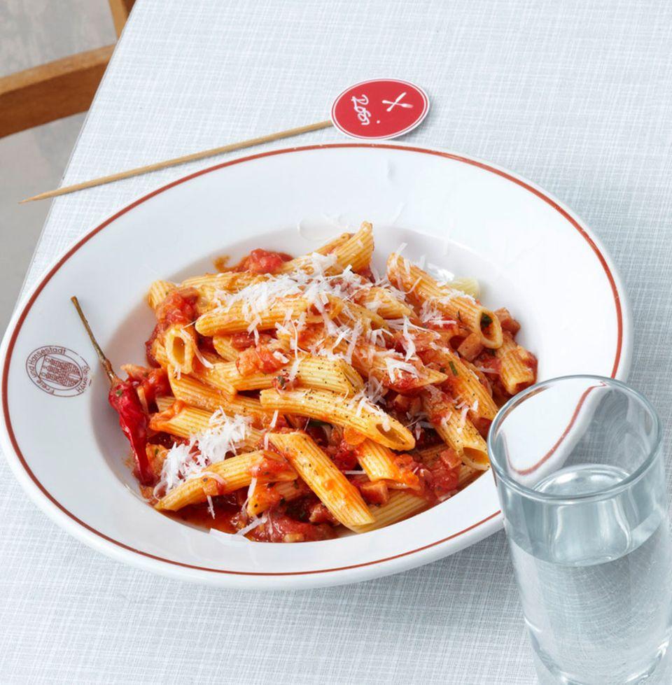 Eine Klassiker mit Tomate: Penne all'arrabbiata
