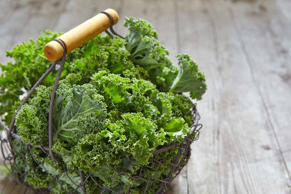 Grünkohl verfügt über viele Vitamine und wertvolle Mineralstoffe