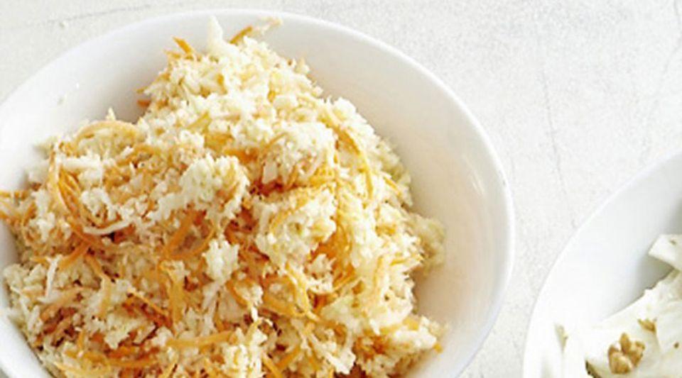 Weißkohl fein rausgeputzt: Krautsalat