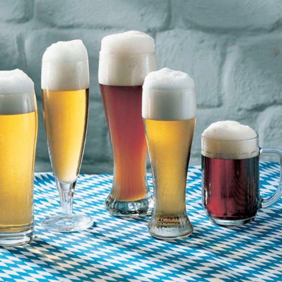 Jede Biersorte hat ihr eigenes Glas