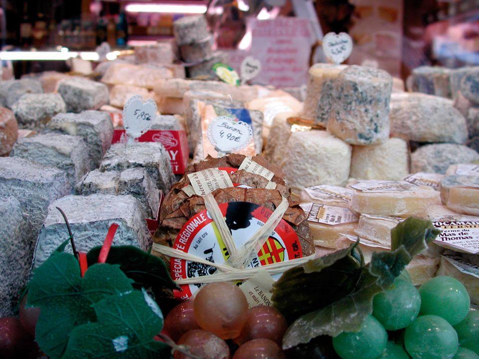 Käse auf dem Marché Mouffetard
