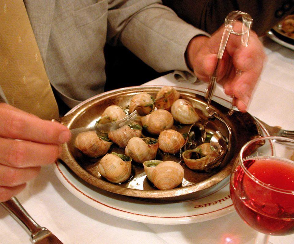 Schnecken gibt es in vielen Pariser Gourmetrestaurants