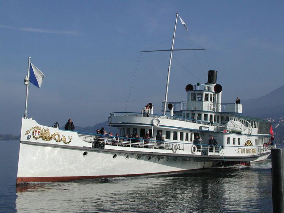 """Das Dampfschiff """"Stadt Rapperswil"""" ist 96 Jahre alt"""