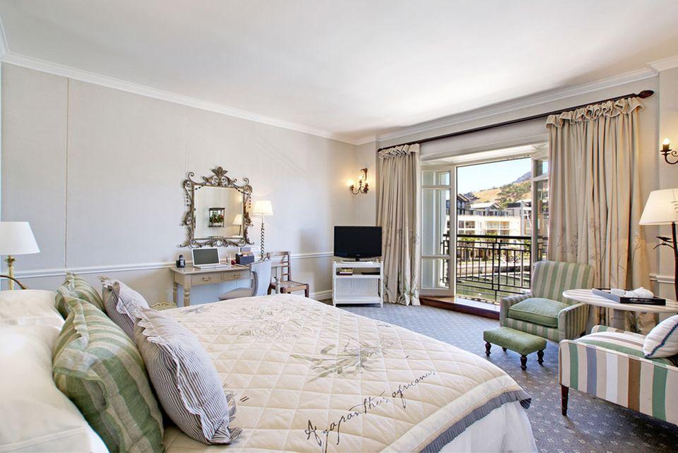 Hell und elegant: Das Cape Grace Hotel in Kapstadt.