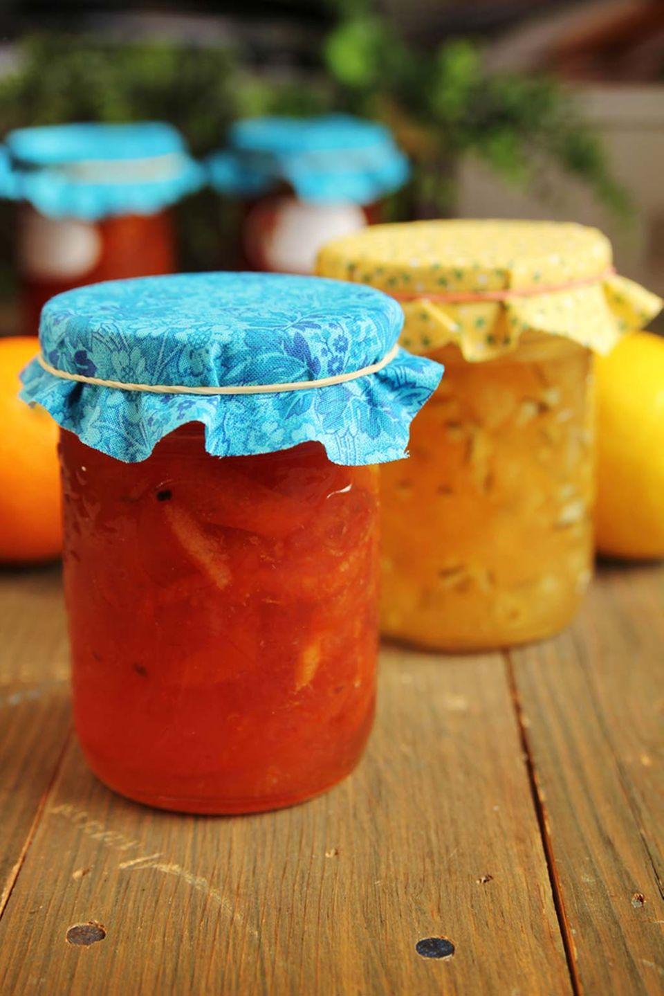 Marmeladen bestehen immer aus Zitrusfrüchten