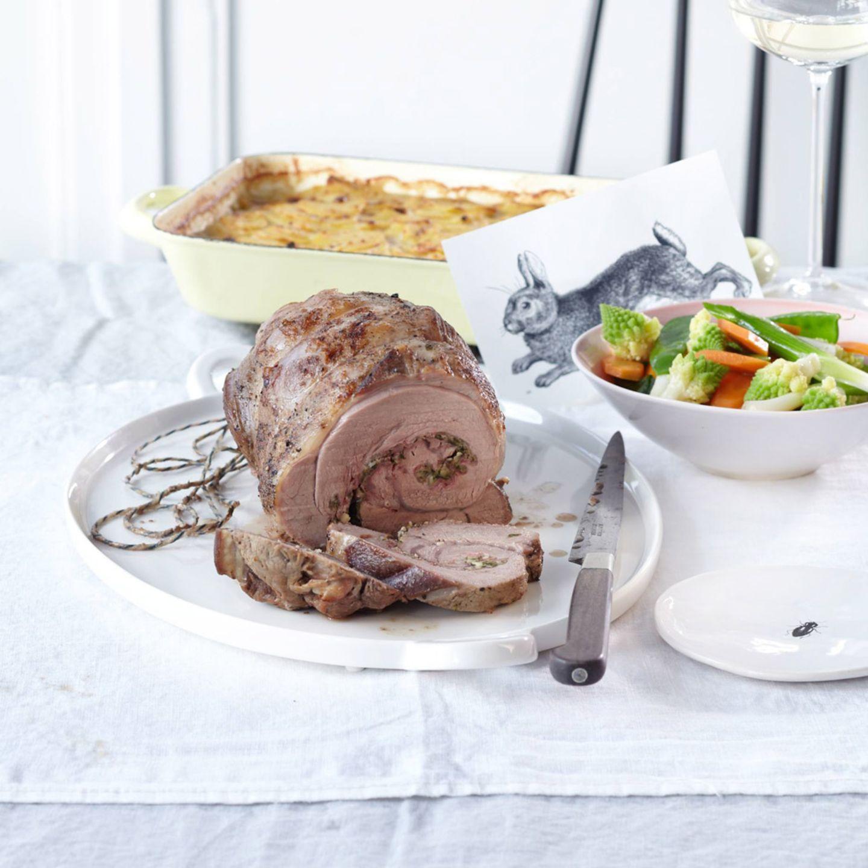Rezepte: Ostermenü mit gefülltem Kalbsrollbraten