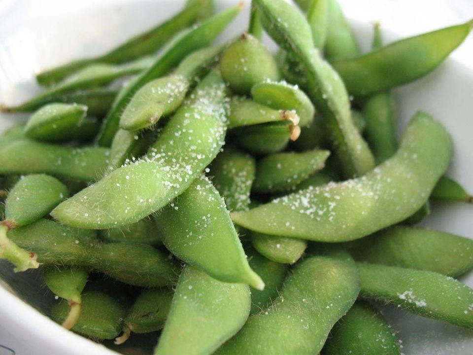 Edamame werden in Japan als Snack gereicht