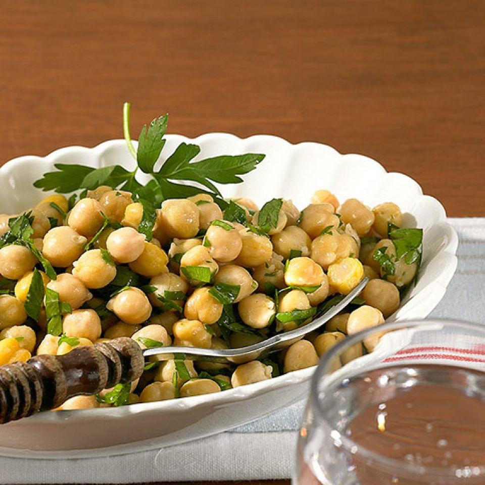 Salat aus Kichererbsen
