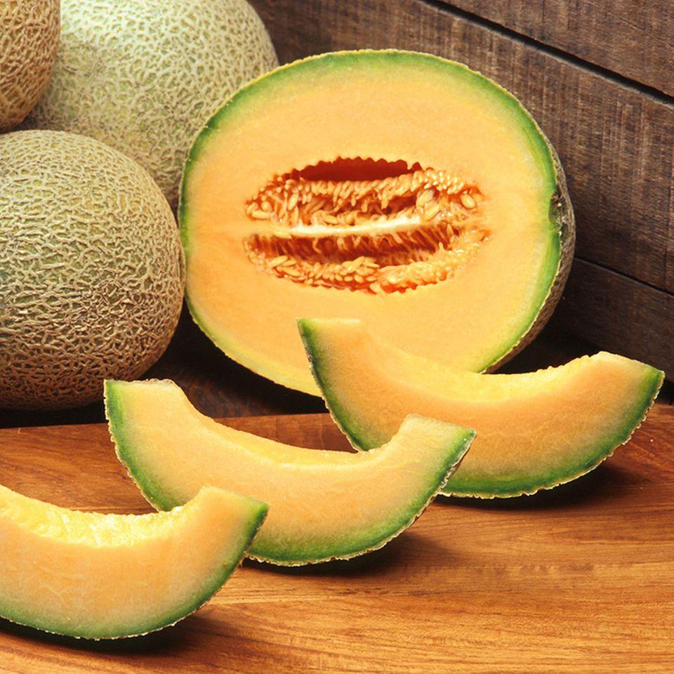 Reife Cantaloupe Melone