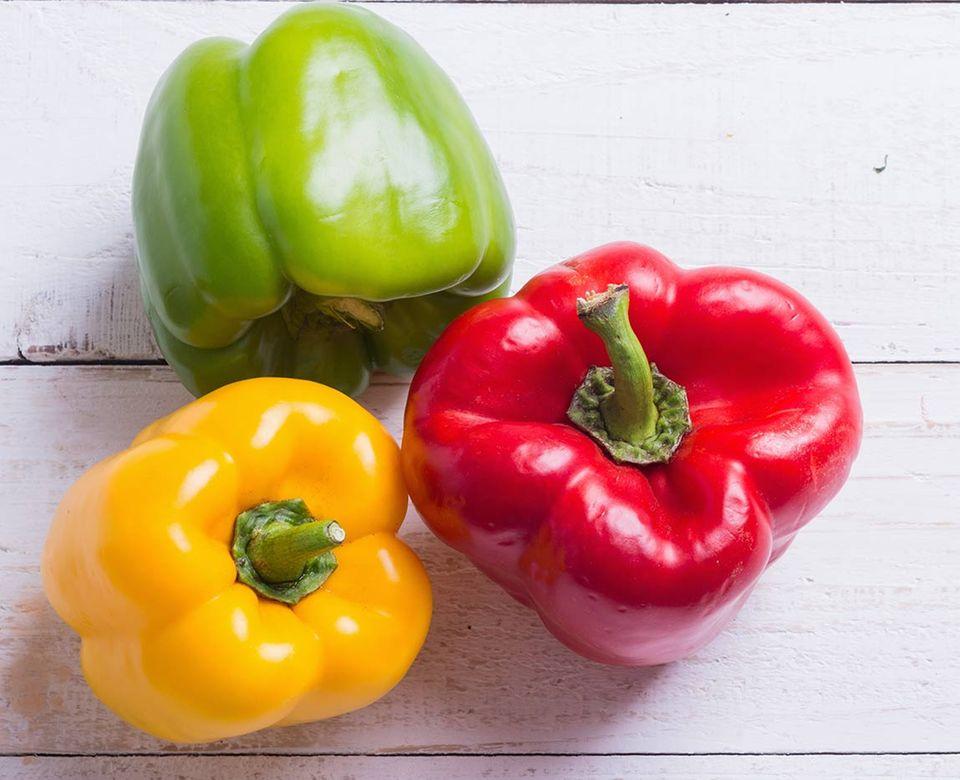 Paprika leuchtet schön kräftig