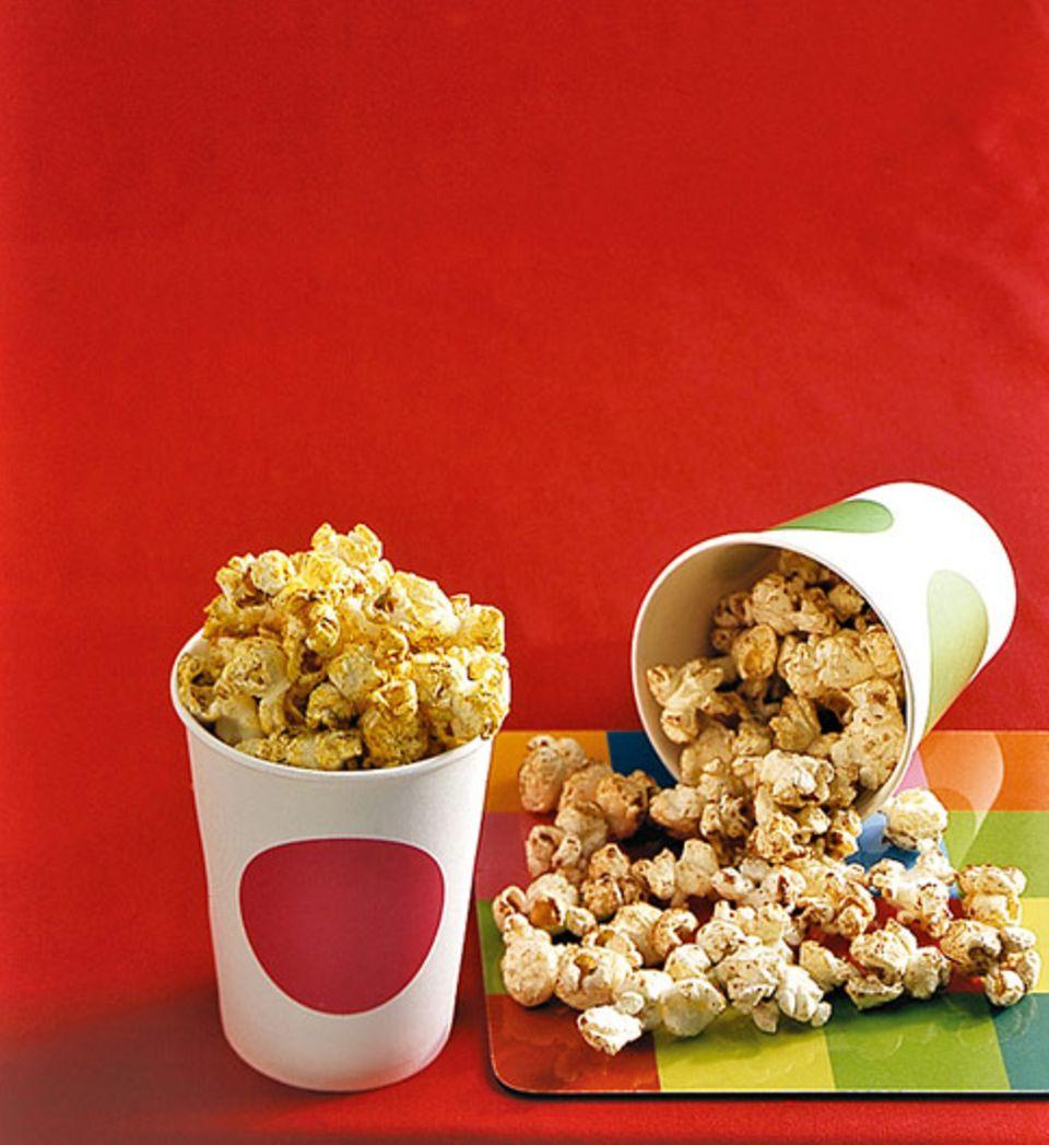 Zweierlei Popcorn: Herzhaft und Süß