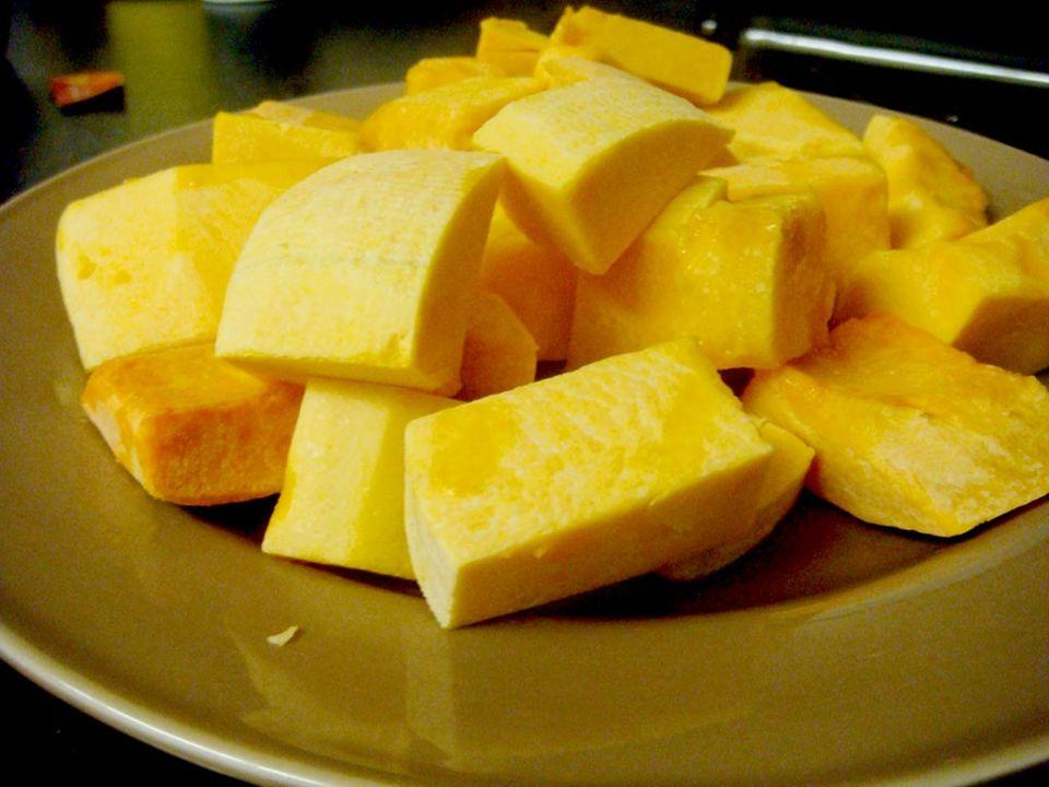 Das Fruchtfleisch des Butternusskürbis ist sehr beliebt