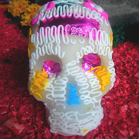 Totenkopf aus Zucker am Día de los muertos