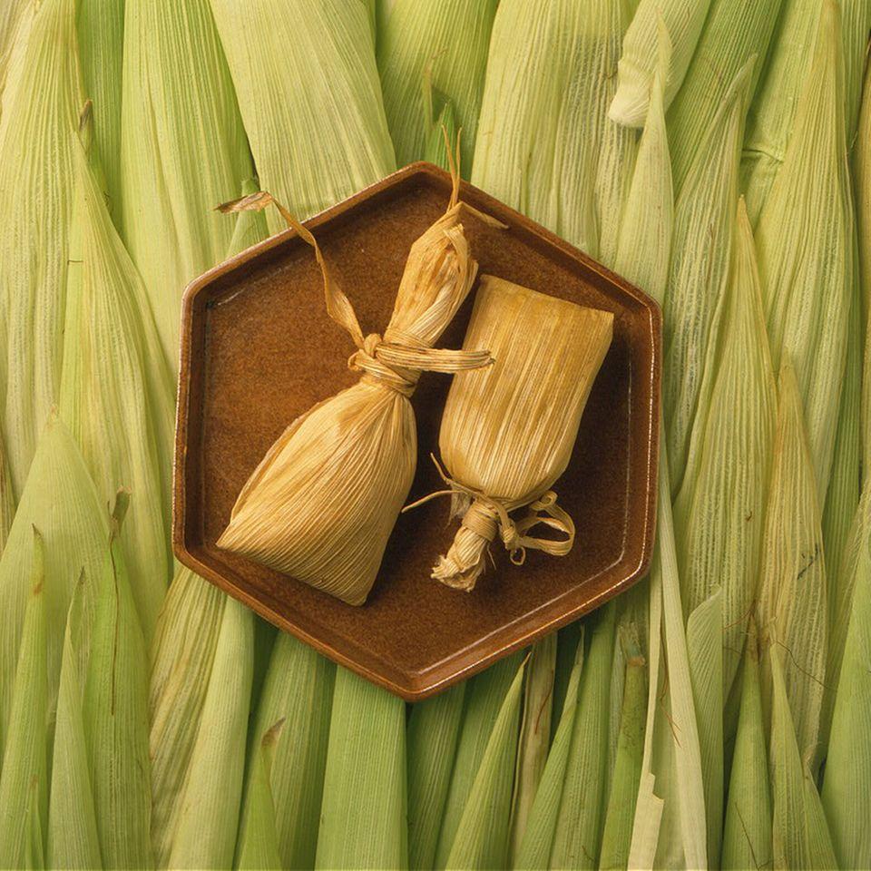 Gut verpackt: Tamales, eine Spezialität aus Maismehl