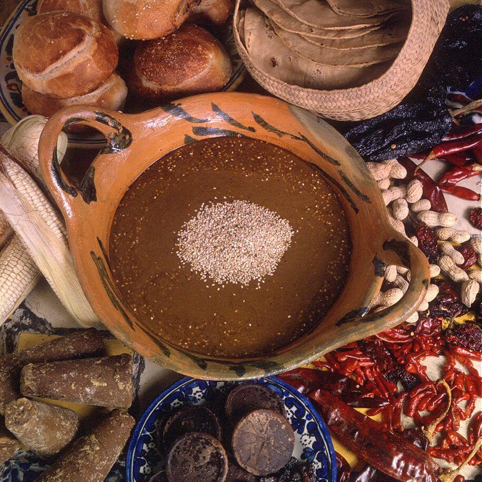 Mole de Olla, ein typisches Gericht aus Mexiko