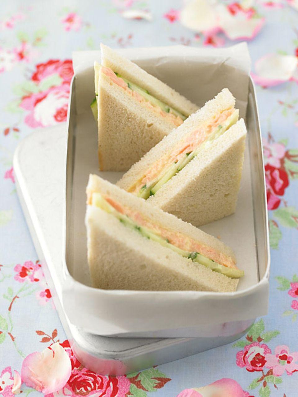 Am liebsten ohne Rinde: Gurkensandwich
