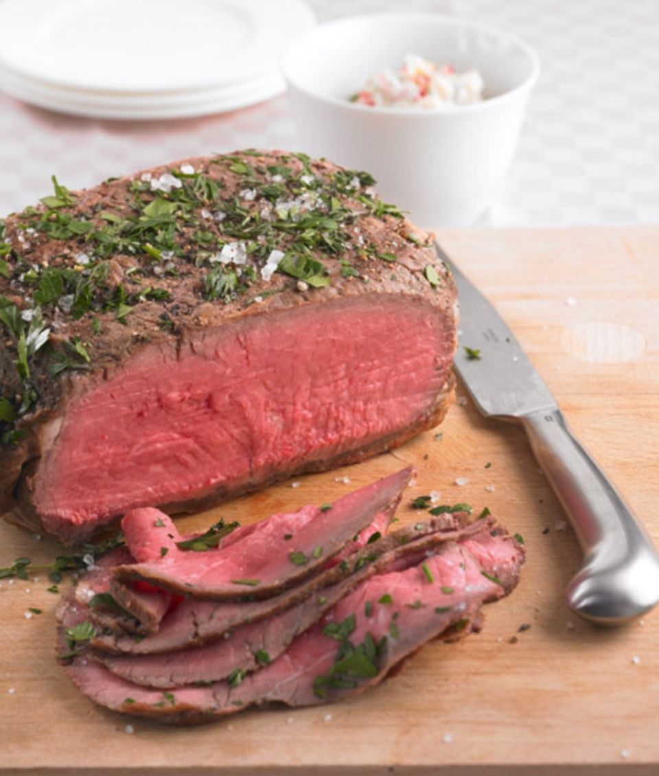 Beliebte Kombination: Remoulade und Roastbeef