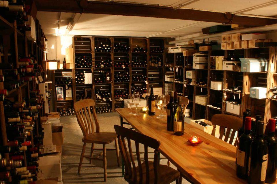 Weinkeller in der Villa Verde