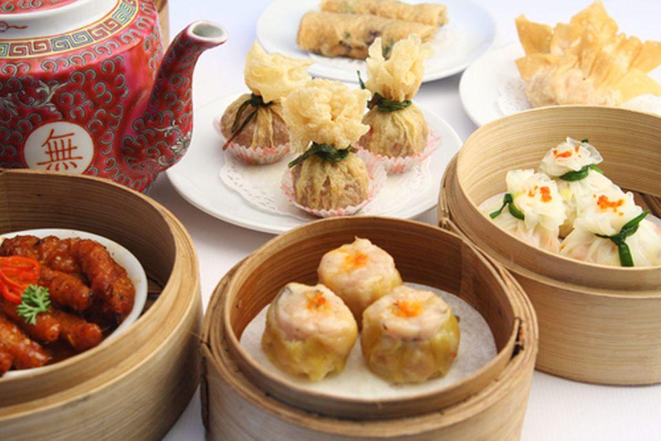 Dim Sum wird traditionell zum Tee gegessen